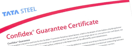 Tata Steel Confidex guarantee